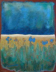 landschap-Acryl/zand-canvas-70x90cm