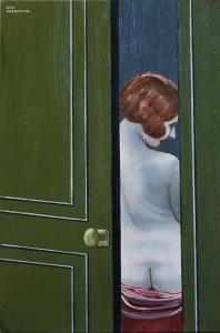 Behind the door-oil on canvas 40x60cm