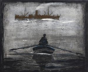 Ferryman-Acryl on canvas-50x60cm