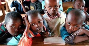 Scholieren in Nairobi, Kenia